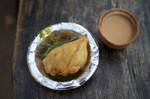 samosa and chai