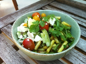 green beans & salad