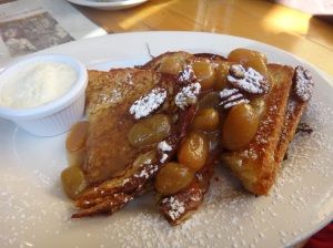 french toast with grape syrup